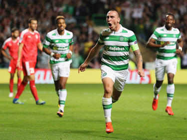 Scott Brown marcó el último gol del Celtic en la ida de los playoffs. (Foto. Getty)