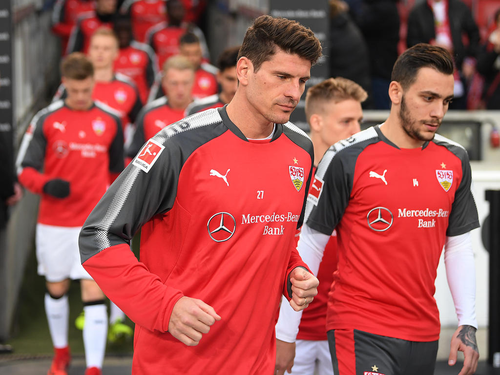 Mario Gomez fehlt wegen eines grippalen Infekts beim Training des VfB Stuttgart