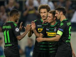 Raffael, Johnson und Hazard (v.li.) fehlen Gladbach in München