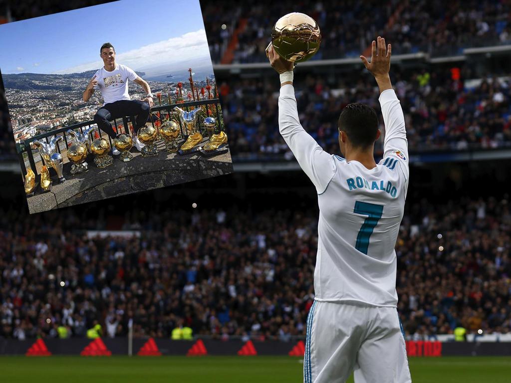 Cristiano Ronaldo mit einem Neujahrsgruß der besonderen Art © facebook.com/Cristiano bzw. Getty Images