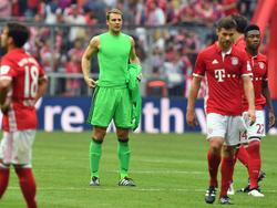 Manuel Neuer war nach dem Remis gegen Köln geknickt