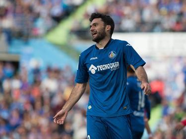 Jorge Molina hizo los goles azulones en El Alcoraz. (Foto: Imago)