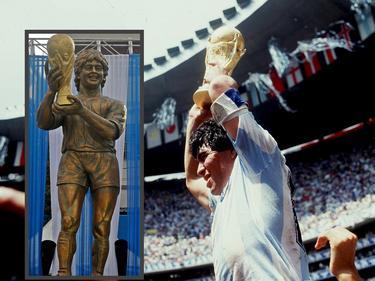 Die Statue soll Maradona bei seinem WM-Triumph zeigen