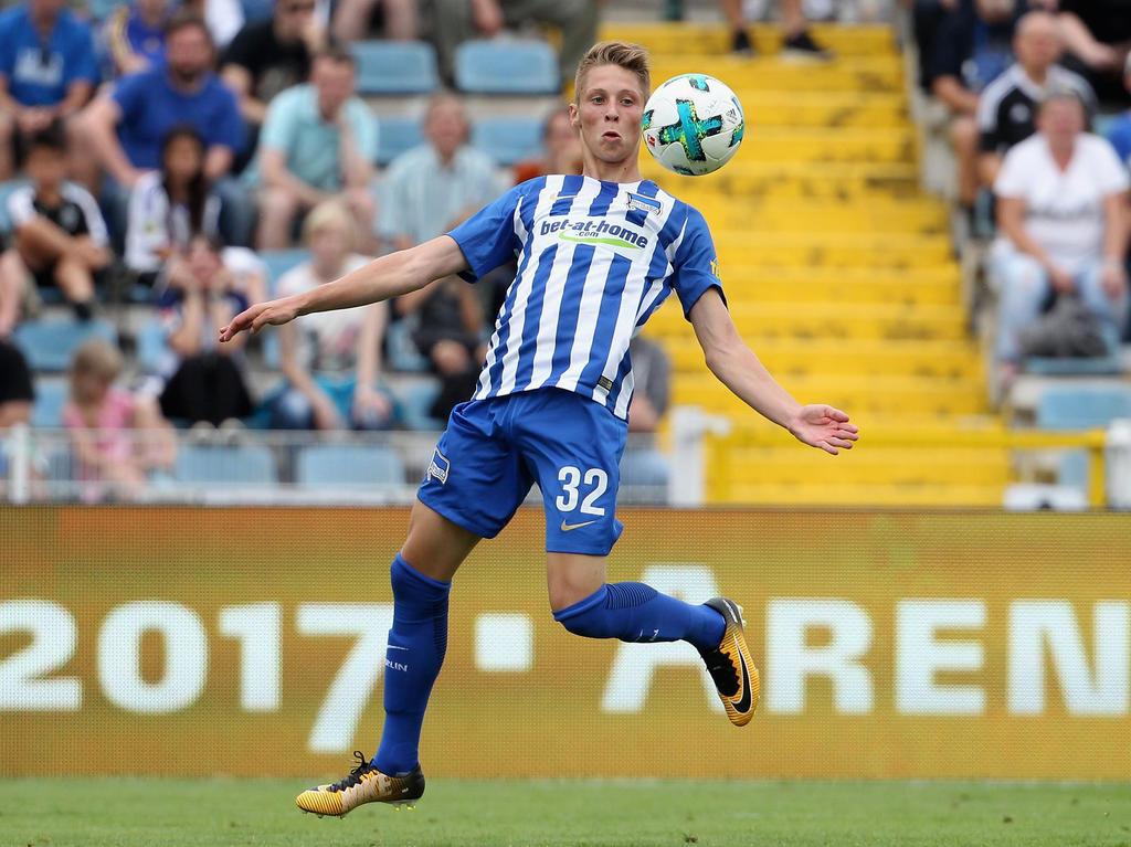 Hertha-Talent Palko Dárdai wurde von seinem Vater Pál eingewechselt