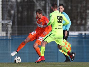 Florian Klein (l.) verlor mit der Austria gegen Brünn.