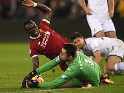 Der FC Liverpool unterliegt bei Tabellenschlusslicht Swansea City