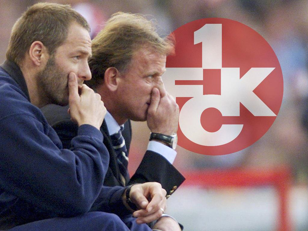 Stumpf (li.) bildete zwischen 2000 und 2002 zusammen mit Brehme das Trainer-Duo beim FCK