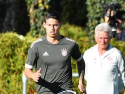 James Rodríguez steht unter Beobachtung von Bayern-Trainer Jupp Heynckes