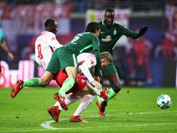 Durchgesetzt: Leipzigs Naby Keita (l.) war gegen Werder Bremen stärkster Spieler