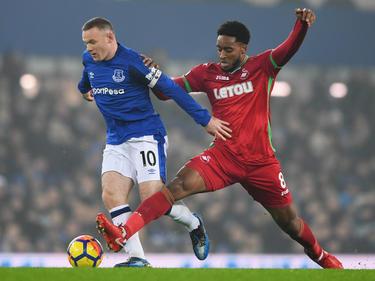 Rooney lideró a los suyos en la victoria contra el colista Swansea. (Foto: Getty)