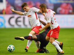 Marcel Sabitzer (l.) sind Diego Demme auf dem Weg zurück im RB-Kader