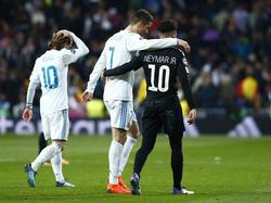 Neymar traf in der Champions League zuletzt mit PSG auf Real Madrid und Cristiano Ronaldo