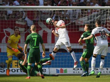 Christian Gentner erzielte per Kopf die Führung für den VfB Stuttgart