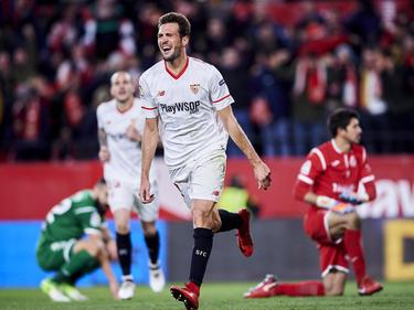 Franco Vázquez celebra su gol contra el Leganés. (Foto: Getty)