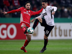 Omar Mascarell (r.) kann gegen Stuttgart nicht mitwirken