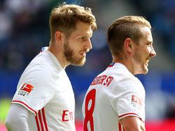 Lewis Holtby (r.) und Aaron Hunt sind unter Christian Titz feste Größen beim HSV