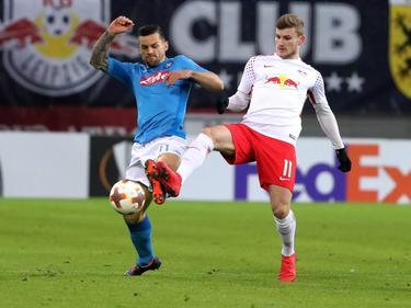 Timo Werner (r.) und seine Teamkollegen waren im Rückspiel gegen Neapel oft einen Schritt zu spät