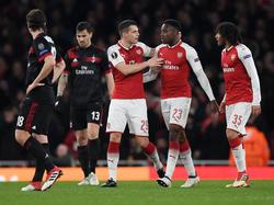Arsenal hat sich gegen Milan durchgesetzt