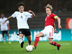 Mads Bidstrup (r.) spielt für Dänemarks Junioren-Nationalmannschaft