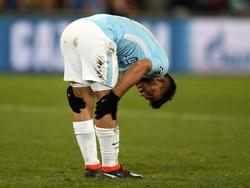 Agüero sigue recuperándose pese a jugar en Champions. (Foto: Getty)
