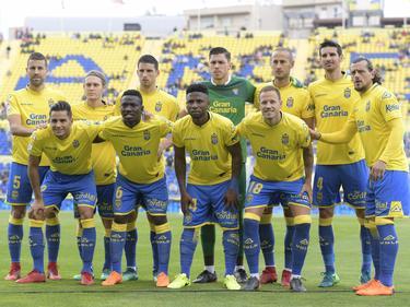 Once de Las Palmas en su descenso a la Segunda División. (Foto: Imago)