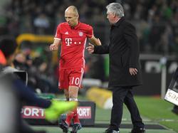 Bayern-Trainer Carlo Ancelotti blickte gnädig über das kindische Trotzverhalten von Arjen Robben hinweg