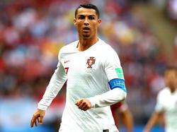 Jubel mit Ziegenbart: Portugals Superstar Cristiano Ronaldo nach seinem Tor gegen Marokko