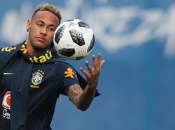 Wieder am Ball: Neymar