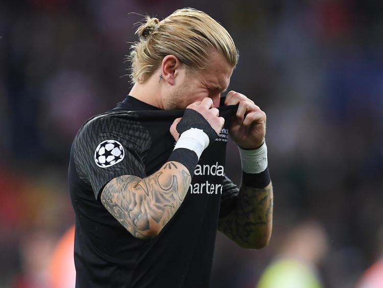 Karius llora desconsolado tras el pitido final. (Foto: Getty)