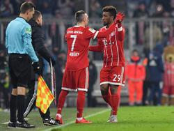 Wechseln sich auf der linken Außenbahn ab: Franck Ribéry und Kingsley Coman