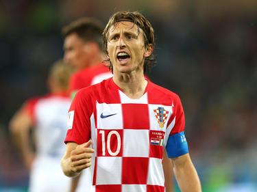 Luka Modric traf für die kroatische Auswahl zum WM-Auftakt gegen Nigeria