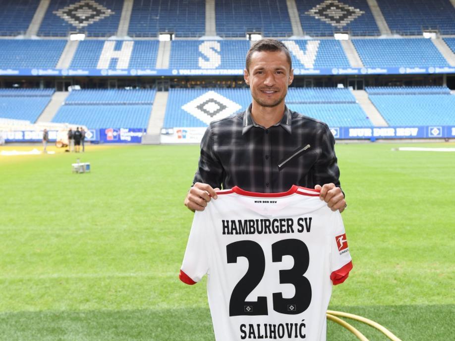 Sejad Salihović wird beim HSV die Nummer 23 tragen (Bildquelle: Twitter @hsv)