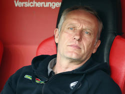 SC-Trainer Christian Streich war mit der Leistungs seiner Mannschaft nicht unzufrieden