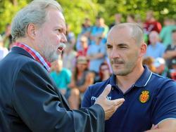 Utz Claassen (l.), hier mit dem ehemaligen RCD-Trainer Albert Ferrer