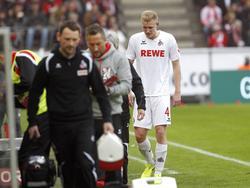 Der Kölner Frederik Sørensen verletzte sich gegen die Bayern am Oberschenkel