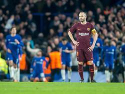 Iniesta tras el empate del Chelsea en el partido de ida. (Foto: Getty)