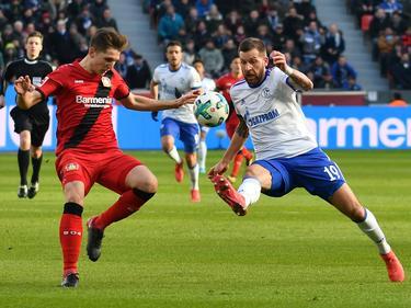 Guido Burgstaller (r.) erzielte die Schalker Führung. © imago/Jan Hübner