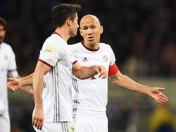 Die Kapitänsbinde an Robbens Arm brachte dem FCB kein Glück