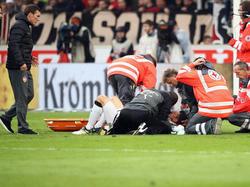 Christian Gentner wurde im Spiel gegen Wolfsburg schwer verletzt