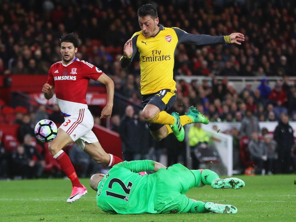 Mesut Özil hat Arsenal zu einem wichtigen Sieg geschossen