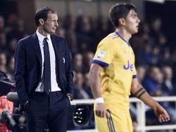 Massimiliano Allegri trainiert Paulo Dybala seit 2015
