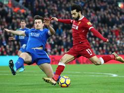 Salah es uno de los goleadores más en forma de la Premier. (Foto: Getty)