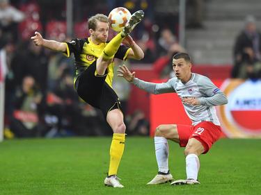 André Schürrle (l.) verabschiedet sich mit dem BVB aus der Europa League