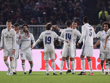 Real Madrid bejubelt den Sieg im Finale gegen Kashima