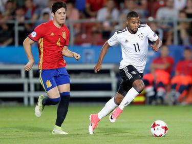 Jorge Meré (l.) stand am Freitag im U21-EM-Finale gegen Deutschland