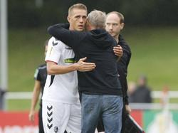 Nils Petersen und der SC Freiburg stehen in der 2. Pokalrunde
