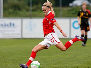 Sarah Puntigam im Spiel gegen Belgien (14.8.2013)