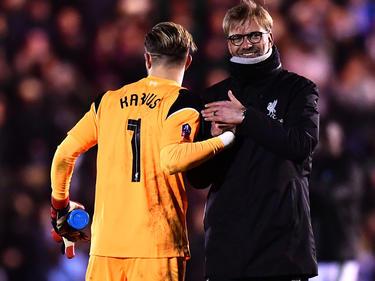 Loris Karius vom FC Liverpool lobt seinen Coach Jürgen Klopp