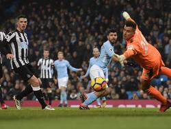 Sergio Agüero erzielte gleich drei Treffer gegen Newcastle United