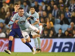Iago Aspas se rompió en el duelo frente al Barça. (Foto: Getty)